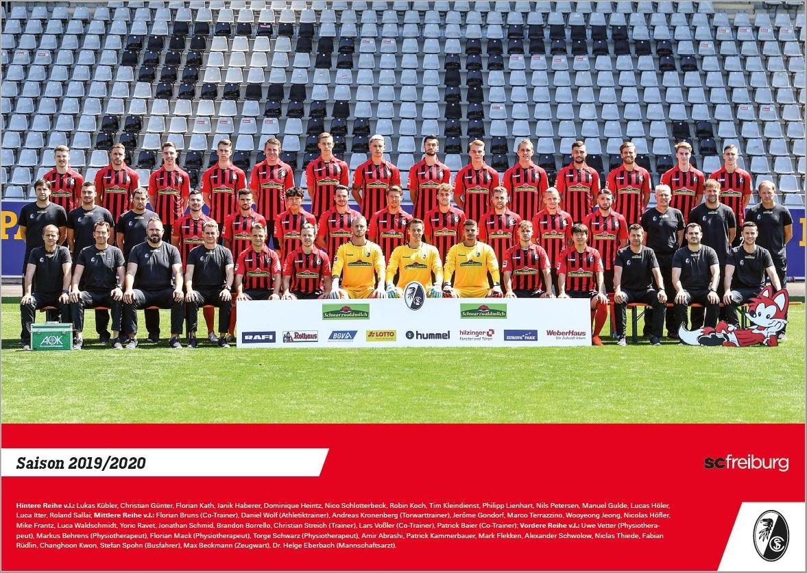 SC Freiburg Mannschaftsposter Teamposter Poster